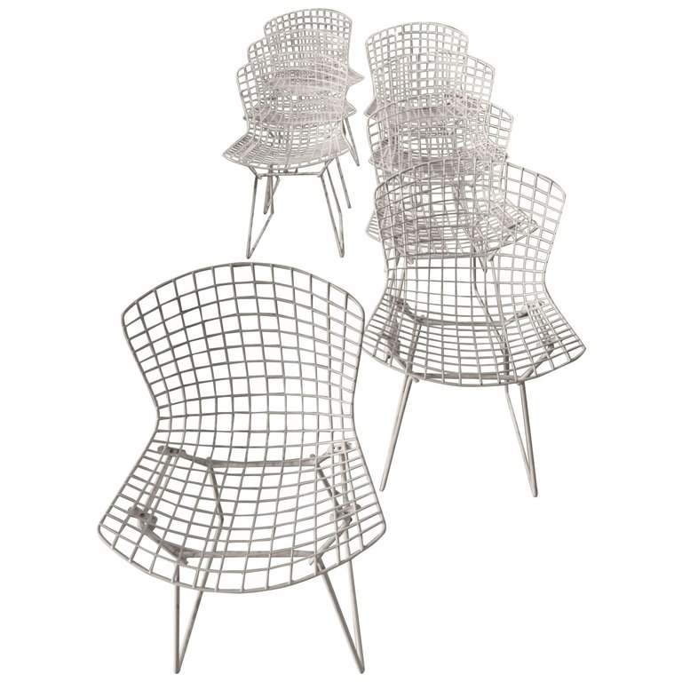 conran bertoia c p w shop chair with the fab side seat pad